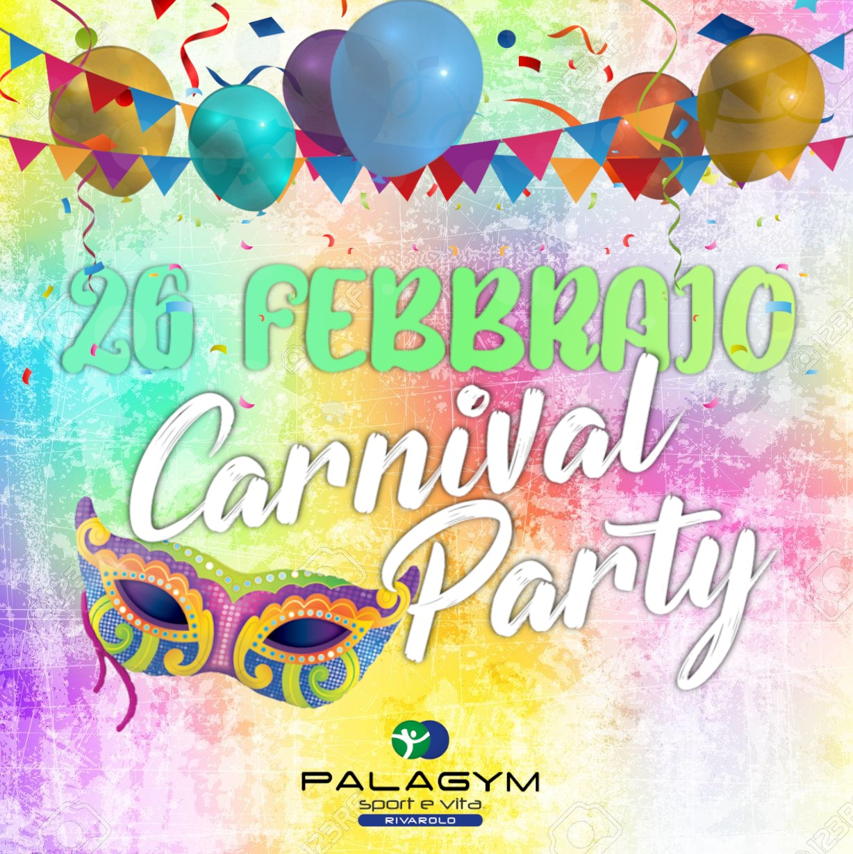 carnival party palagym rivarolo